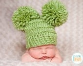 SALE Chunky Hat with Large Pom-Poms READY to SHIP