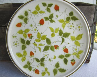 Vintage Mikasa Strawberry Hill Large Serving Plate Chop Plate Round