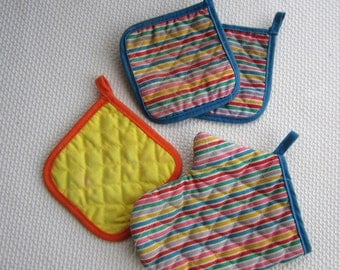 Vintage Fisher Price Oven Mitts Pot Holders