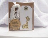 Baby Shower Wish Tree Favor Tags Gender Neutral Giraffe Journal Tags Journaling Tags  T120