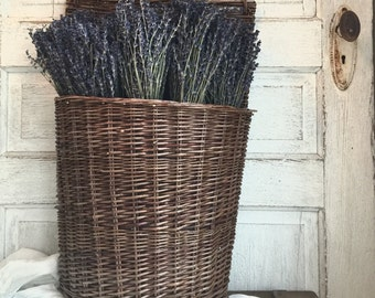 Willow Hanging Basket with French Lavender Bundles