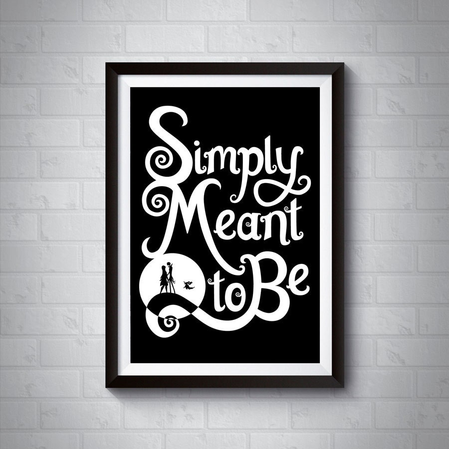 Simply Meant to Be | Nightmare Before Christmas Giclee