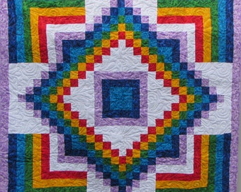 Rainbow Bargello Quilt