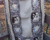 Horse Baby Afghan crochet pattern digital pdf 747