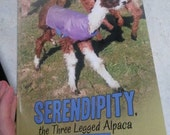 Children's Book, Serendipity the Three Legged Alpaca, Inspirational and Educational, Picture Book