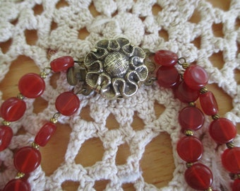Vintage costume jewelry  /   Necklace  / WESTERN  GERMANY