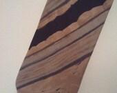 SALE Men 80s tie Architect stripes brown earth tones cocktail lounge Playboy Mad Men preppy