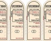 Will you be my Groomsman - Wedding Groomsman Liquor Labels - Will you be my Best Man - Groomsmen