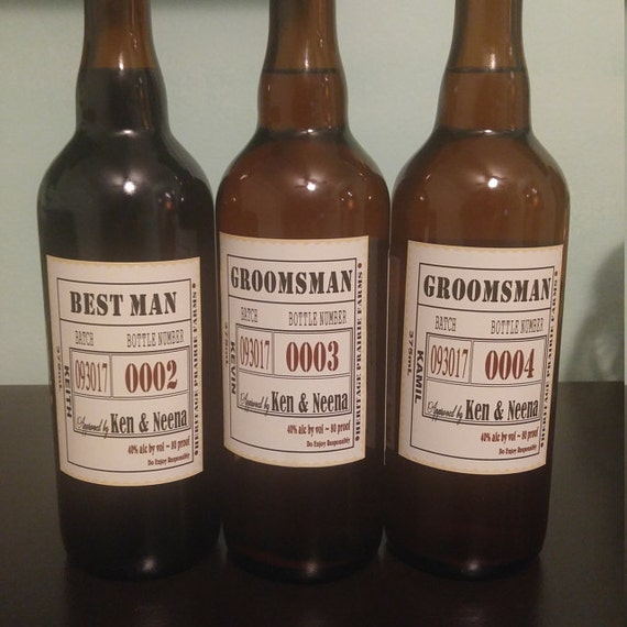 Groomsman beer labels custom proposal beer bottle labels for Groomsman liquor bottle labels