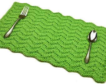 Solid Chevron Placemat - PDF Crochet Pattern - Instant Download