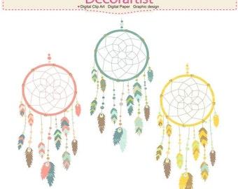 ON SALE Dreamcatcher clip art, tribal clip art, clipart, Dream catcher clip art
