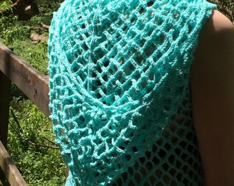 Bright Blue Mesh Dress