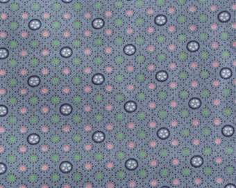 Vtg 100% Cotton Sewing/Quilting/Doll Clothes fabric 36w x 3 yard
