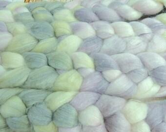 Geode/ Handpainted SW Merino-Bamboo-Nylon Combed Top/ 4 oz.