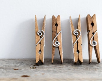 laundry room print, Fine Art Photography clothespin decor wall art, home decor clothes pin photo, rustic laundromat art cottage gift
