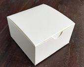 4 Piece Truffle Box - Custom Blank Favor Box - Cream Matte Paper