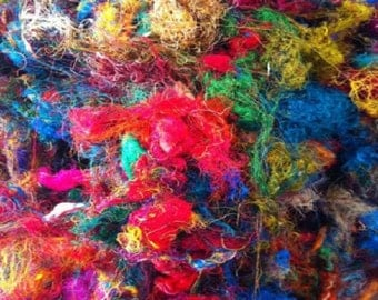 Multi-Color Sari Silk Waste By The Ounce