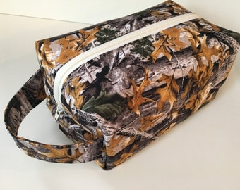 Boy Toiletry Bag, Kids Toiletry Bags, Mens Toiletry Kit, Travel Bag - Camo Hunter