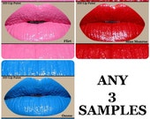 Lipstick & Lip Paint SAMPLES-Choose 3 samples from our charts