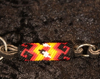 Vintage Native American Beaded Keychain