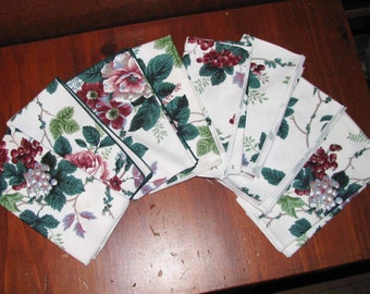 Beautiful dinner napkins wih grapevineand flower designs REDUCED
