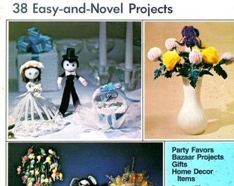 Creativity with Chenille Sculpture Learn How Make Bride Groom Iris Rabbit Daisy Sun Alphabet Finger Rose Nurse Sailor Pattern Craft Leaflet