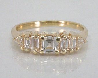 Unique Vintage Estate Multi Diamond Women's Wedding Ring - Appraisal Included