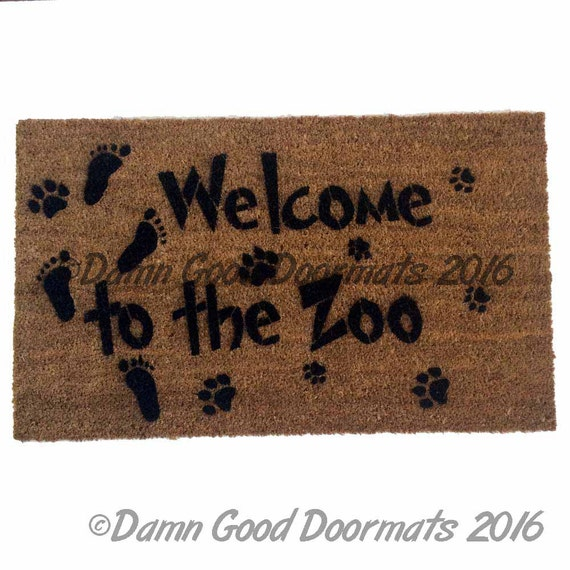 Welcome to the zoo front door novelty doormat door mat - Novelty welcome mats ...