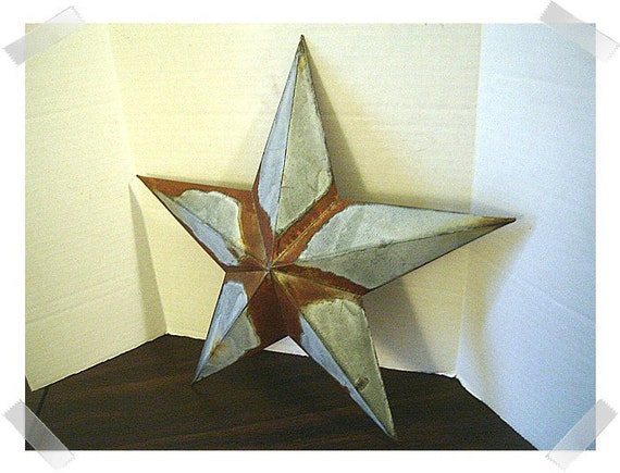 Star Wall Decor Ideas: Metal Galvanized/Rusty Star Wall Decoration/2 /Home
