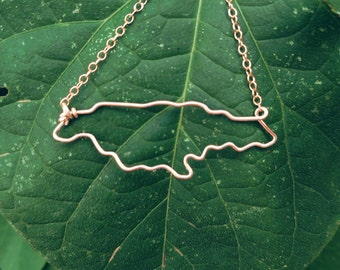 Jamaica Necklace - Outline of Jamaica