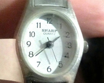 Sale-Vintage Sharp Womens' Watch with Stretch Band