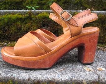 Vintage 70's Platform Sandals