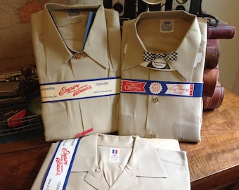 Set of Three Vintage Uniform Shirts