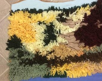 Southern Autumn Hillside Sculpted Rug