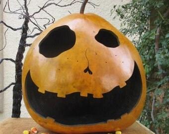 Halloween Gourd XXLarge Jack O Lantern Primitive Pumpkin Decoration