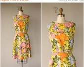 30% OFF AWAY SALE 60s Floral Dress | 60s Day Dress | 1960s Dress | 1960s Floral Dress | Vintage 60s Dress | Vintage Floral Dress