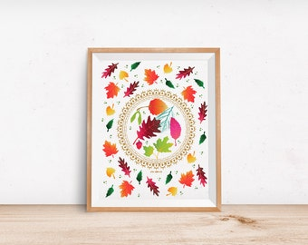 Art Print: Pressing Leaves