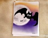 Vampire Bat Illustration Greeting Card - Strigoi the Vampire Bat