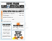 news from camp fill in