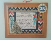 Now Its Christmastime framed mixed media home decor holiday