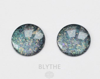 BLYTHE - ooak hand painted blythe eye chips, unique - by KarolinFelix - no 54