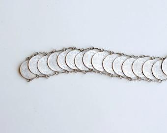 1940s Mexican silver coin bracelet / 40s vintage Mexico centavos coins souvenir bracelet