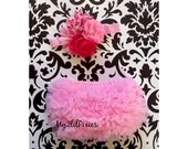 Valentines day set - Baby girl HEADBAND and Ruffle Bum Baby bloomer , pink, red,white, newborn bloomer, cake smash diaper cover, photo prop
