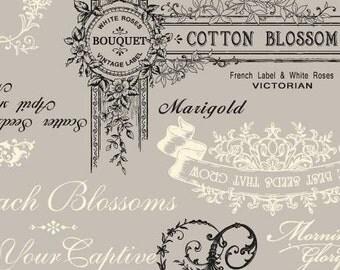 Natural Tone Cotton/Linen Blend  RU2240-11B Quilt Gate Cotton Linen Fabric