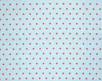 Pink Lulu pwtw0968SKY Cotton Fabric by Tanya Whelan FreeSpirit Lulu Roses Dot