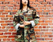 Vintage Army Camouflage Jacket