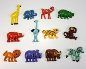 Vintage Animal Magnets, Set of Twelve