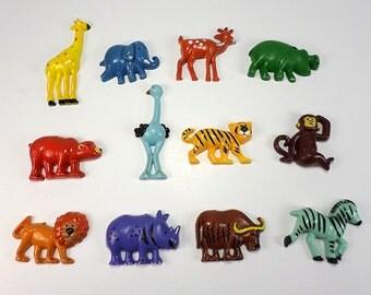 Vintage Animal Magnets, Set of Twelve