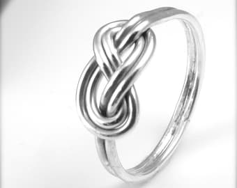 Sterling Silver Celtic Knot Ring / Endless Knot Figure 8 Infinity Ring / Love Knot / Alternative Wedding Ring