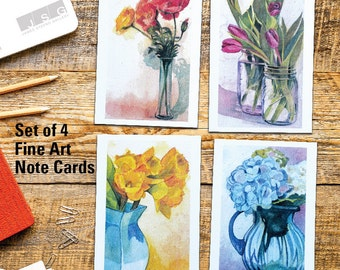 Vases of Color Note Card Set of 4